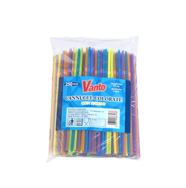 Vanto Cannuccie Cocktail colorate 13,5cm 500pz