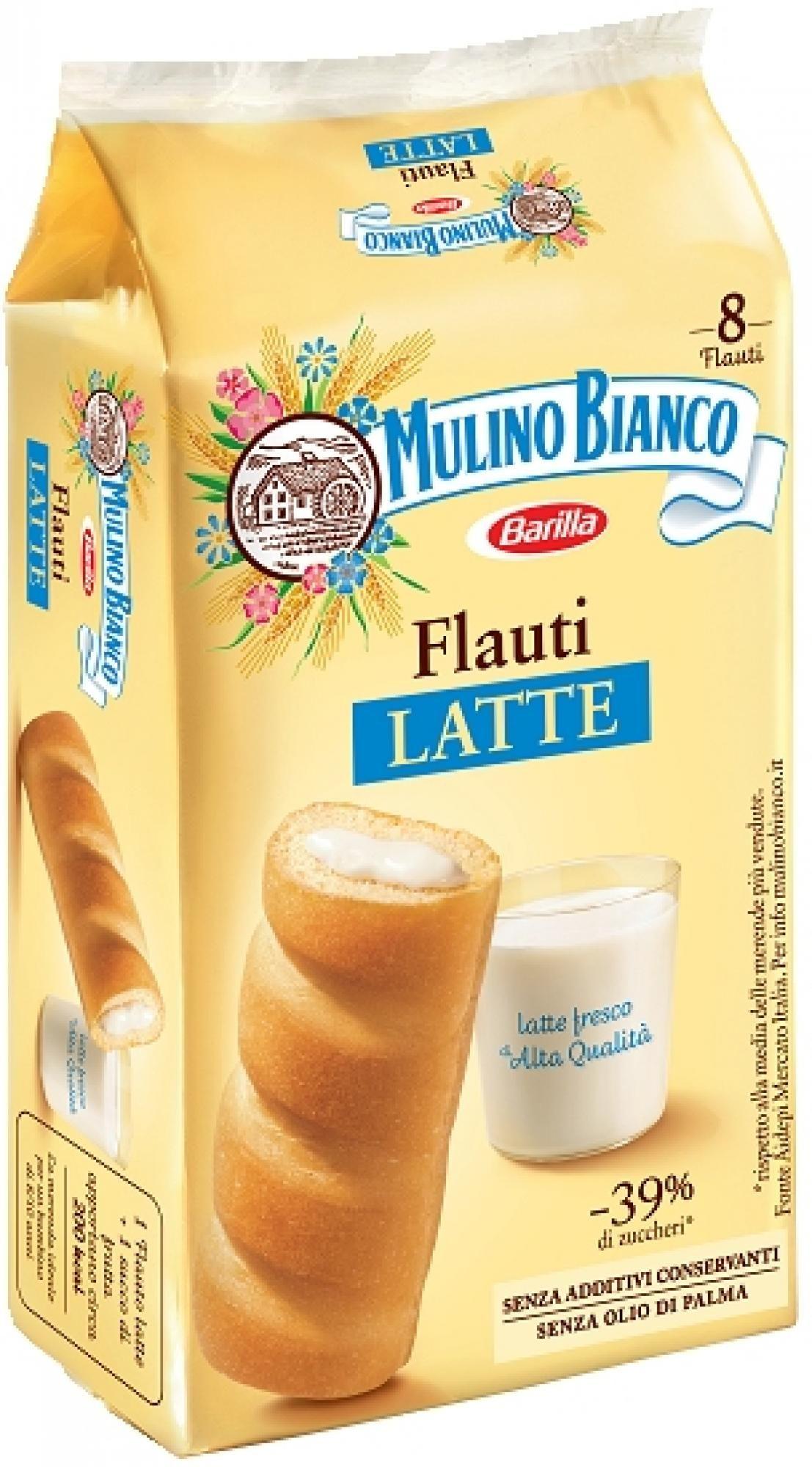 Flauti al latte Mulino Bianco 280g