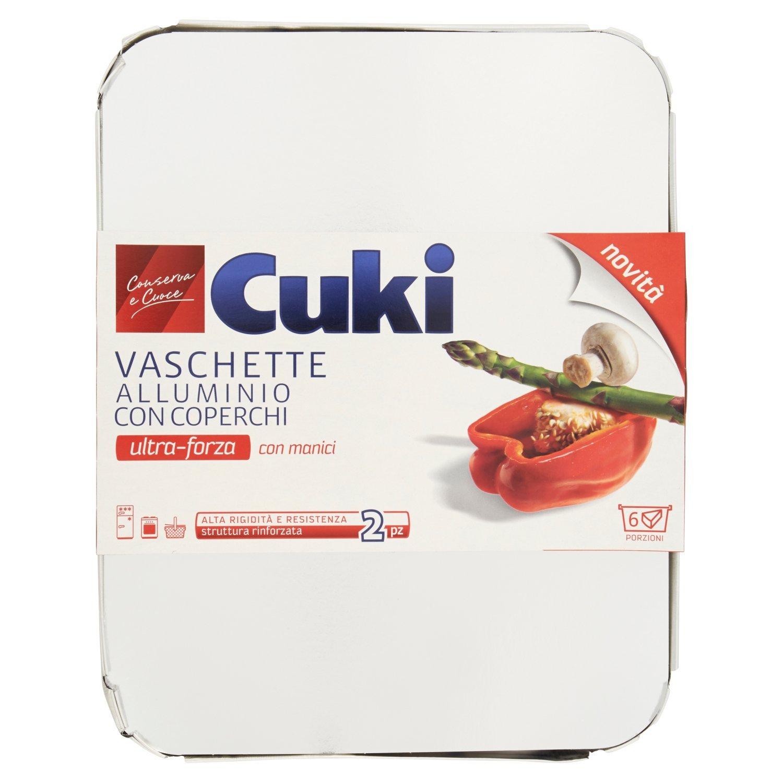 Vaschette Cuki Ultra Forza in alluminio con coperchi 2pz