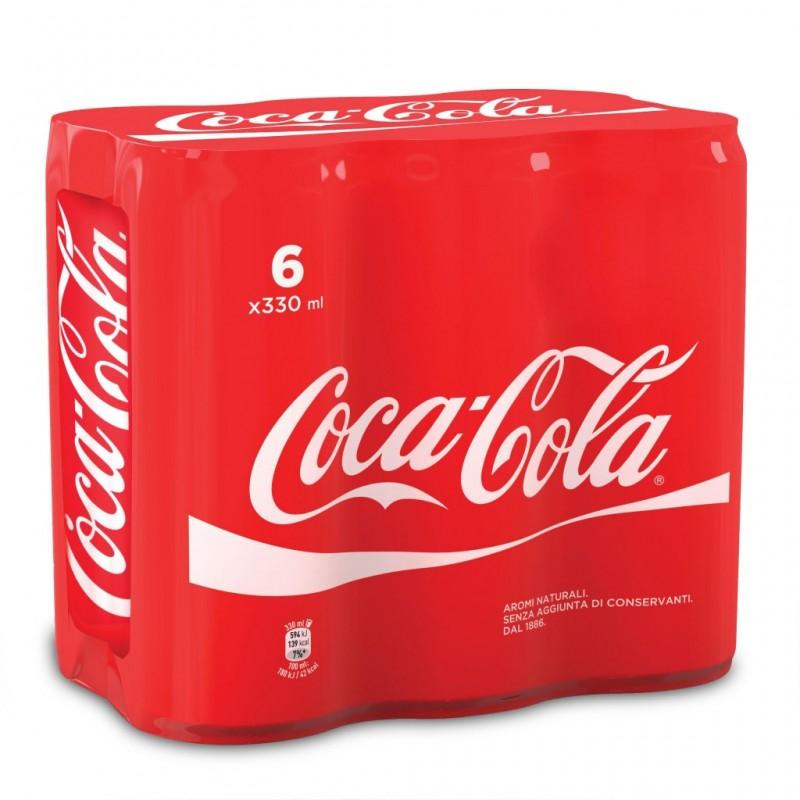 Coca-Cola Original lattina confezione da 6x330ml