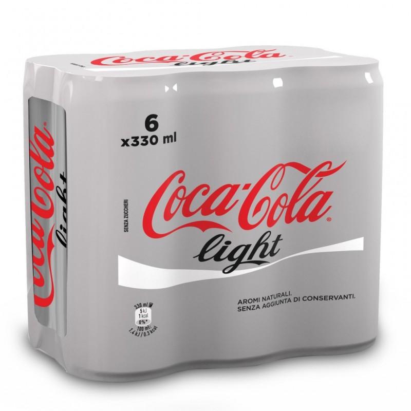 Coca-Cola light lattina confezione 6x330ml