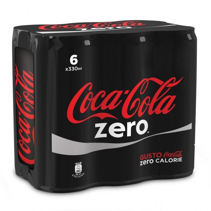 Coca-Cola Zero calorie lattine 6x330cl