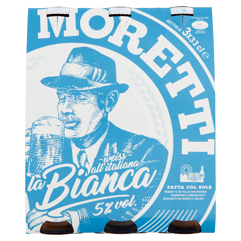 Birra Moretti la Bianca 3x33cl