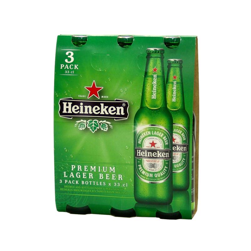 Heineken Lager Beer 33cl 3pz