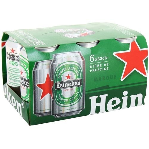 Heineken Lager Beer 6 lattine 33cl