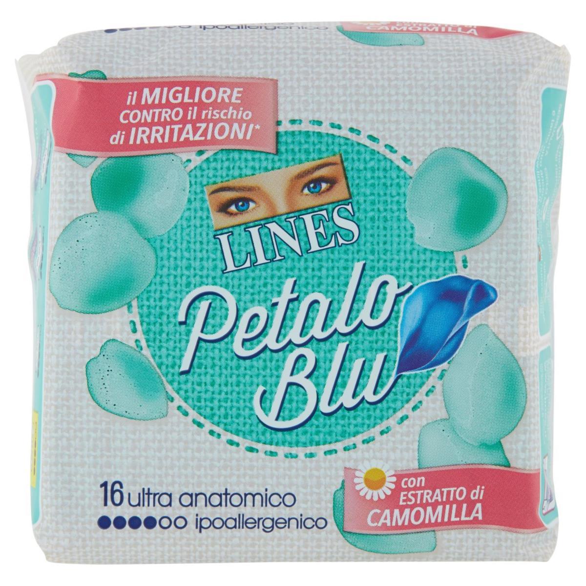 Lines Petalo Blu ultra anatomici con estratto di camomilla 16pz