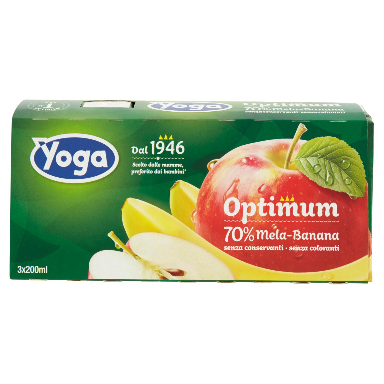Yoga Optimum Mela Banana Brik 3x200ml