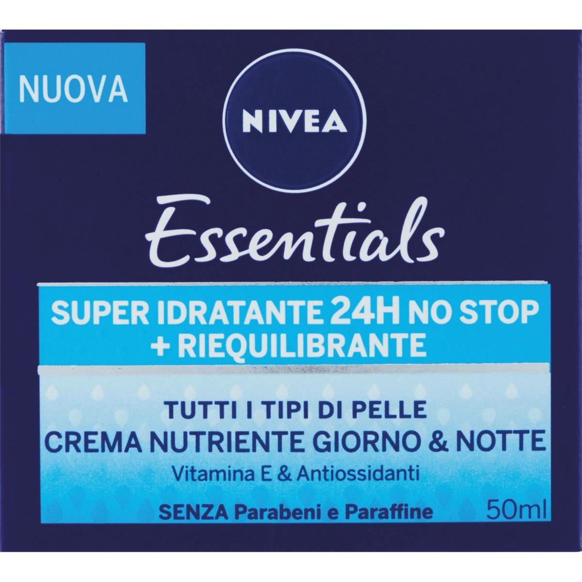 Nivea Essentials Super Idratante 24H No Stop + Riequilibrante Crema Nutriente Giorno & Notte 50 ml