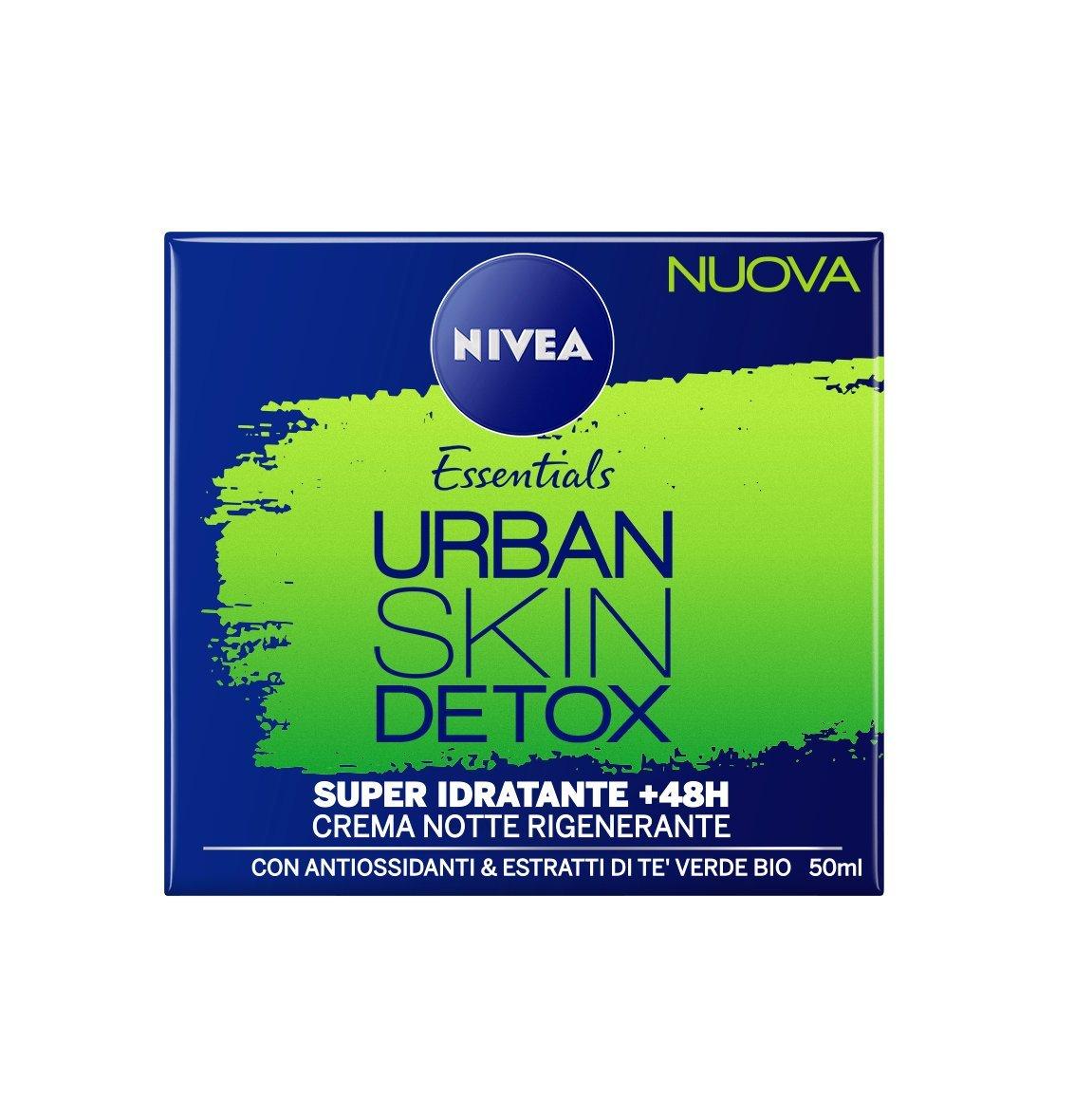 Nivea Essentials Urban Skin Detox Super Idratante +48H Crema Notte Rigenerante 50 ml