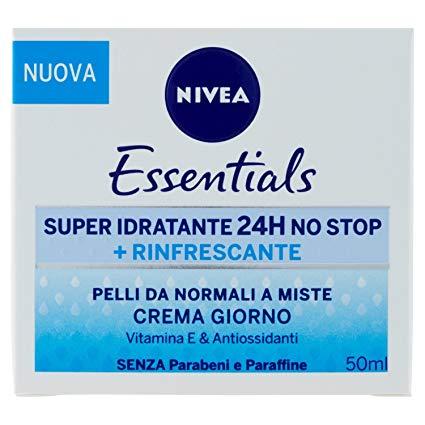 Nivea Essentials Super Idratante 24H Rinfrescante, Crema Giorno Viso per Pelli da Normali a Miste 50 ml