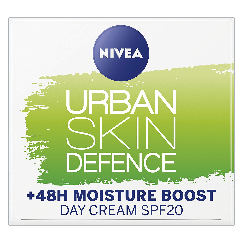 Nivea Essentials Urban Skin Defence Super Idratante +48H, Crema Giorno Viso Detox  50 ml