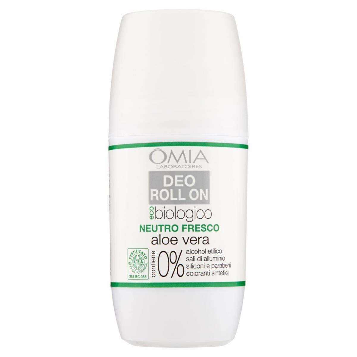 Omia Deodorante Roll On Eco-biologico Neutro Fresco all'aloe vera 50 ml