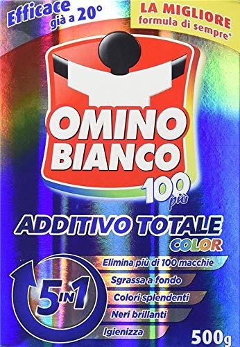 OMINO BIANCO ADDITIVO TOTALE 100 PIU' COLOR ELIMINA PIU' DI 100 MACCHIE