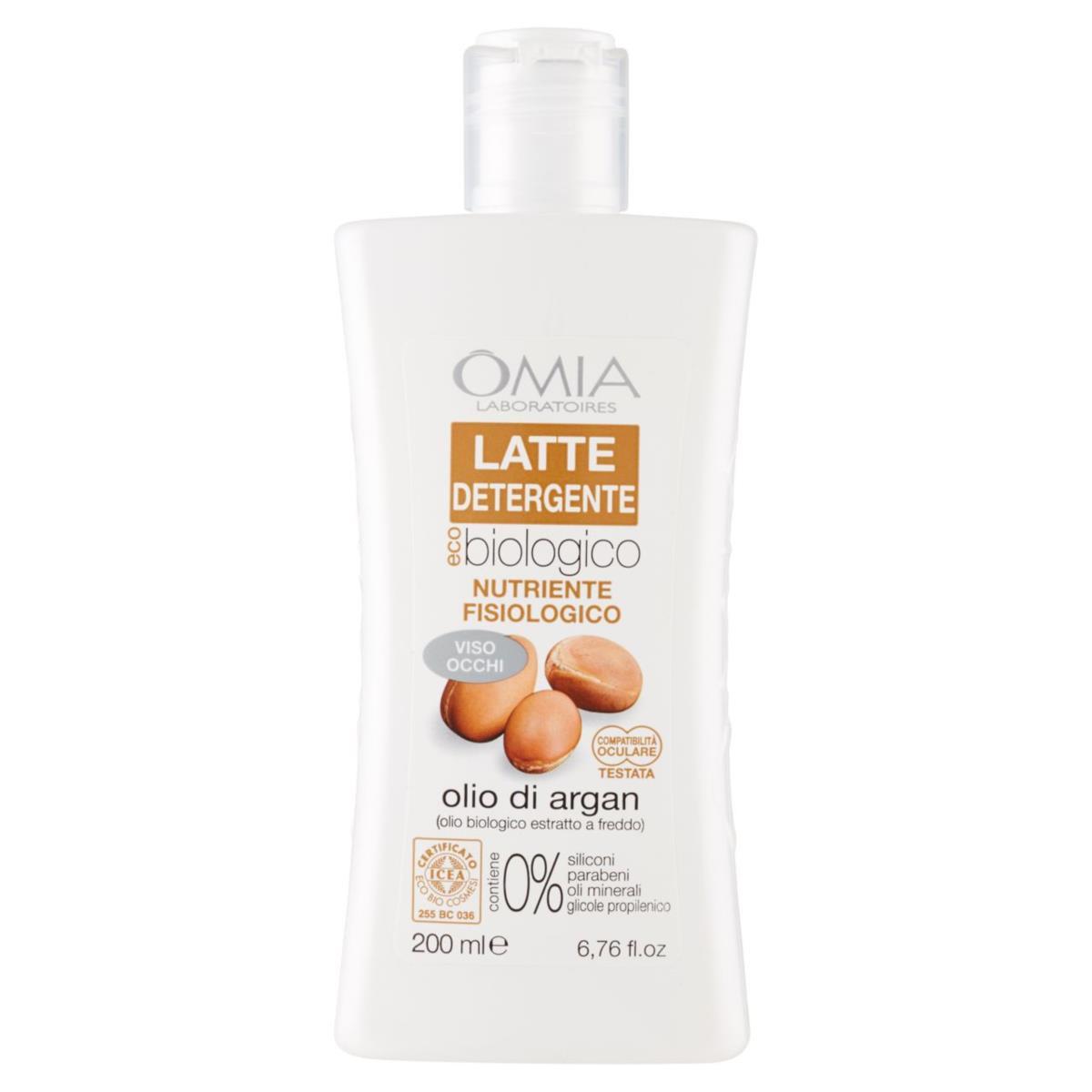 Omia EcobioVisage latte detergente olio di argan ml 200