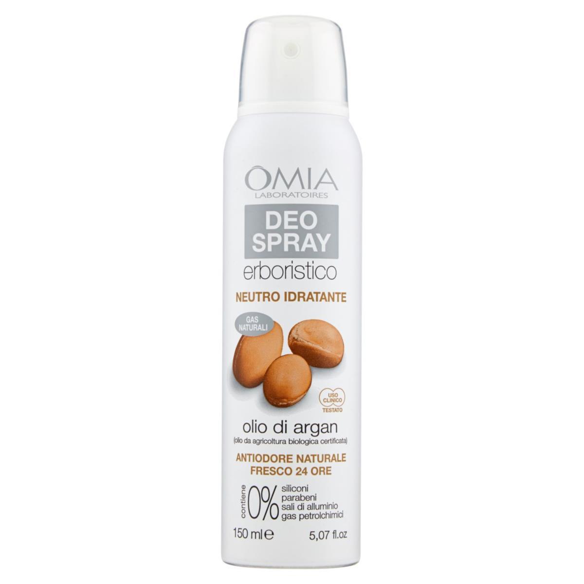 Omia Deodorante Spray Neutro Idratante all'olio d'argan 150 ml
