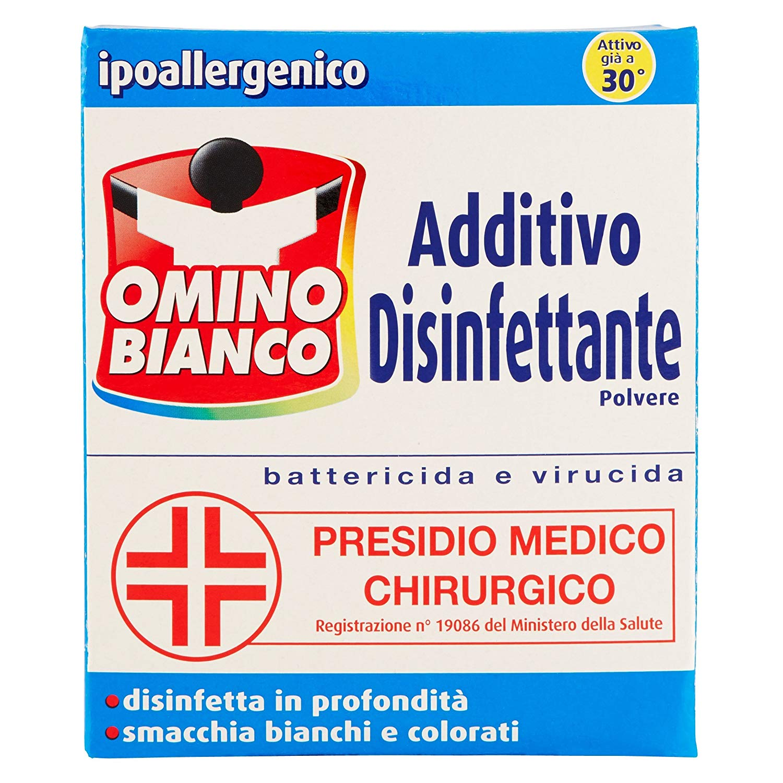 Omino Bianco – Additivo Disinfettante in polvere per bucato – 450 g
