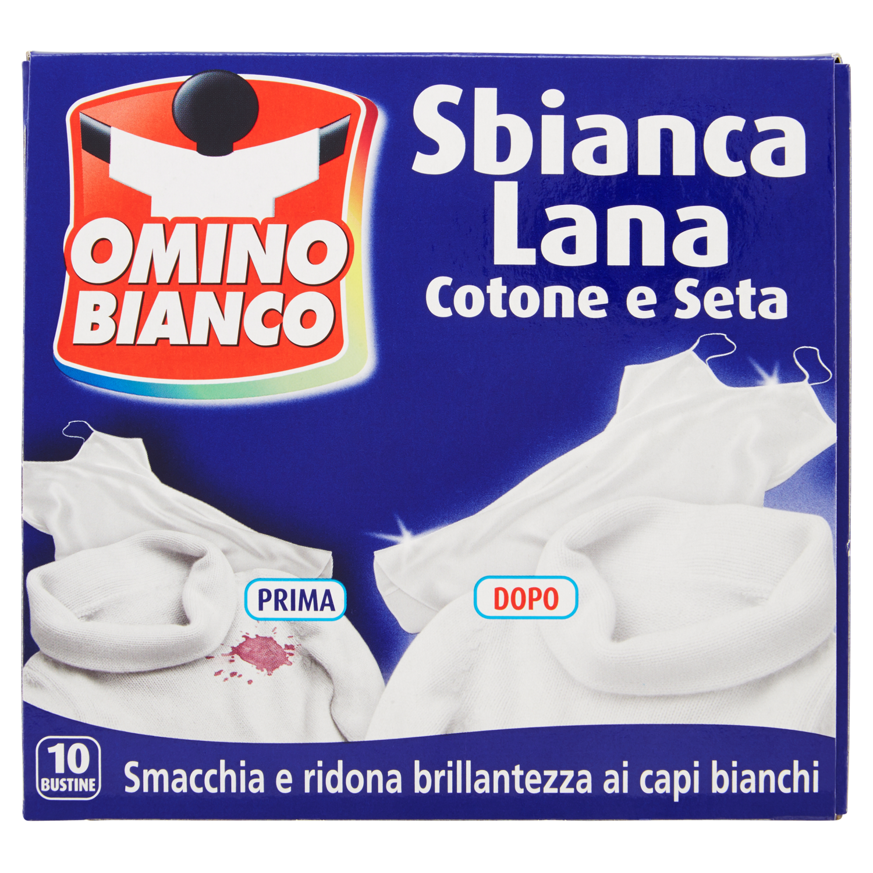 Omino Bianco Sbianca Lana Cotone e Seta 10 x 20 g