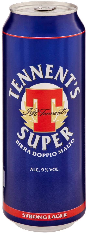Birra Super Tennent's 50cl lattina
